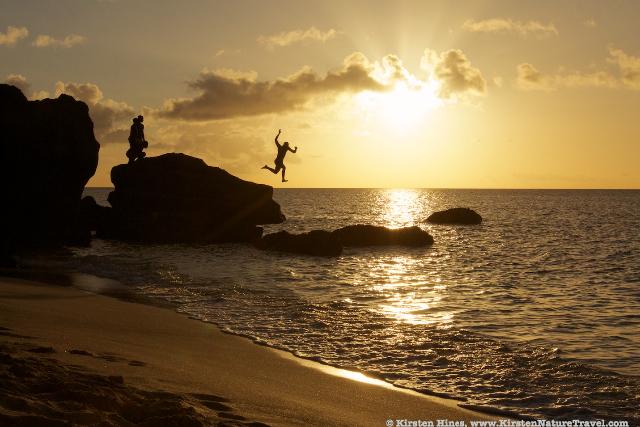 Sunset leap