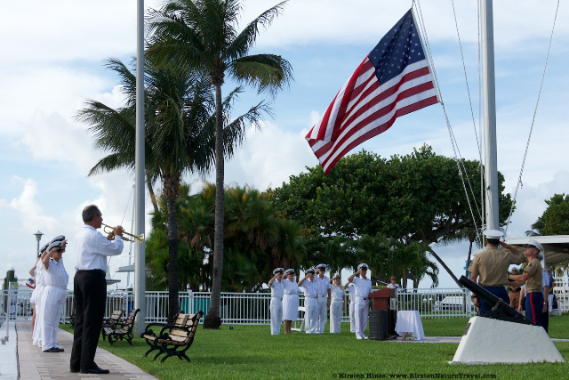 Flag Ceremony, Key Biscayne Yacht Club