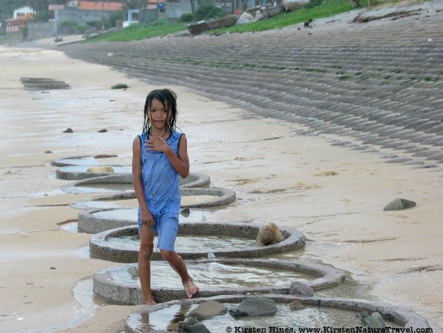 Girl on the beach in Mui Ne