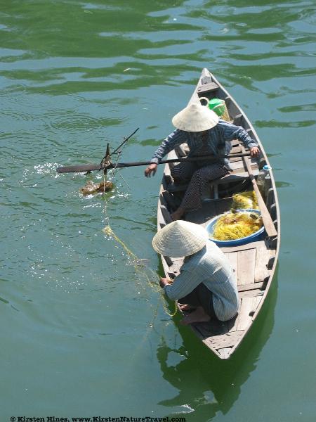 Gathering fishing nets