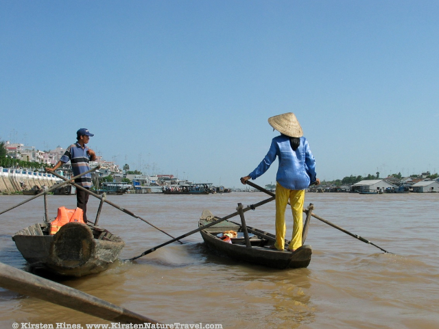 Boaters in Chau Doc