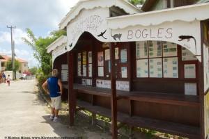 Informational kiosk at Bogles.