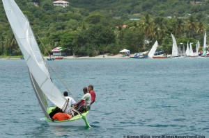 Heading to the finish line, Carriacou Regatta