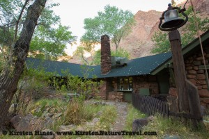 Early morning coffee placed behind the Phantom Ranch dining area, Grand Canyon National Park.