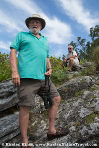 David Wingate leading a natural history tour around Bermuda.